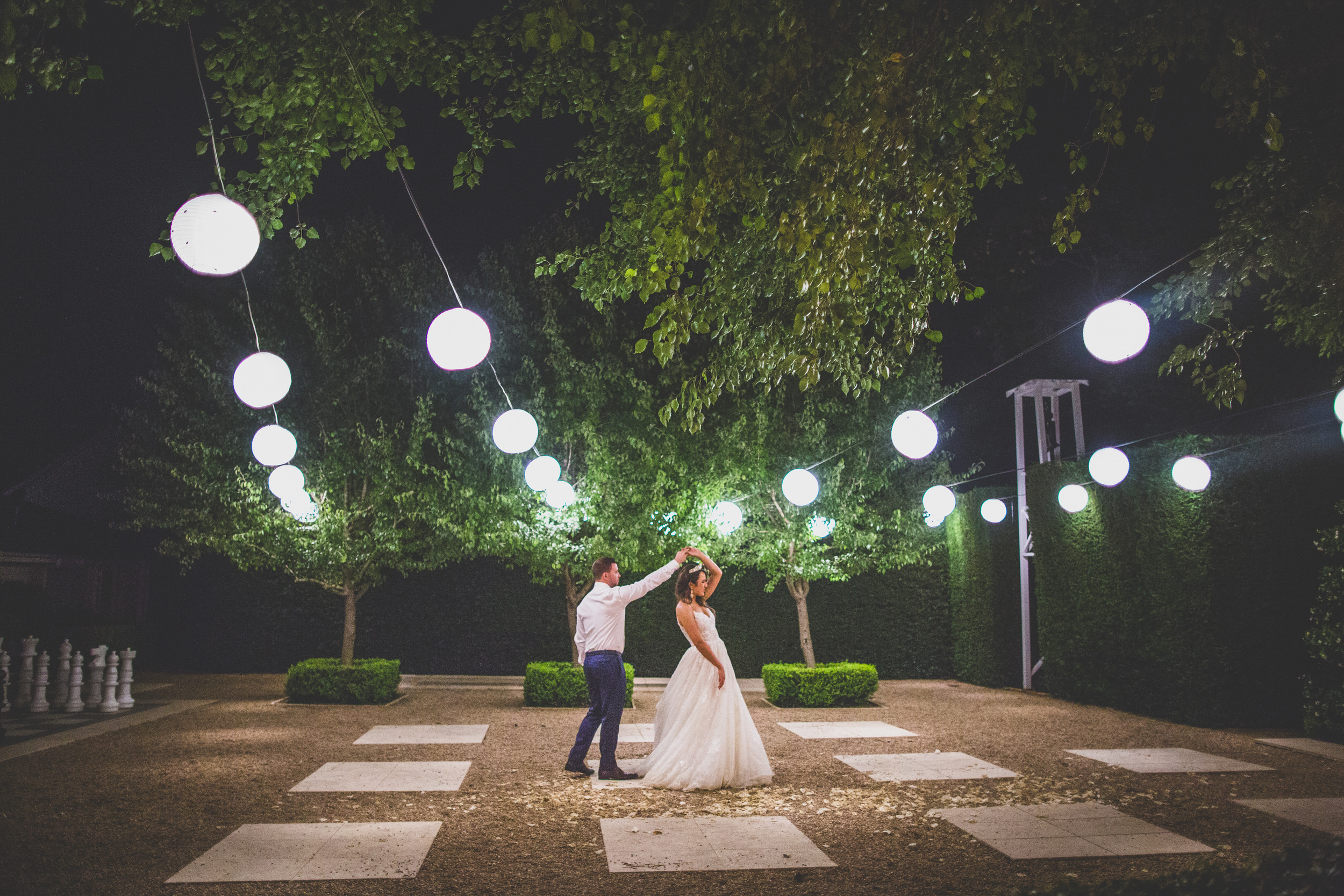 Dancing under the courtyard lanterns in Berry, NSW