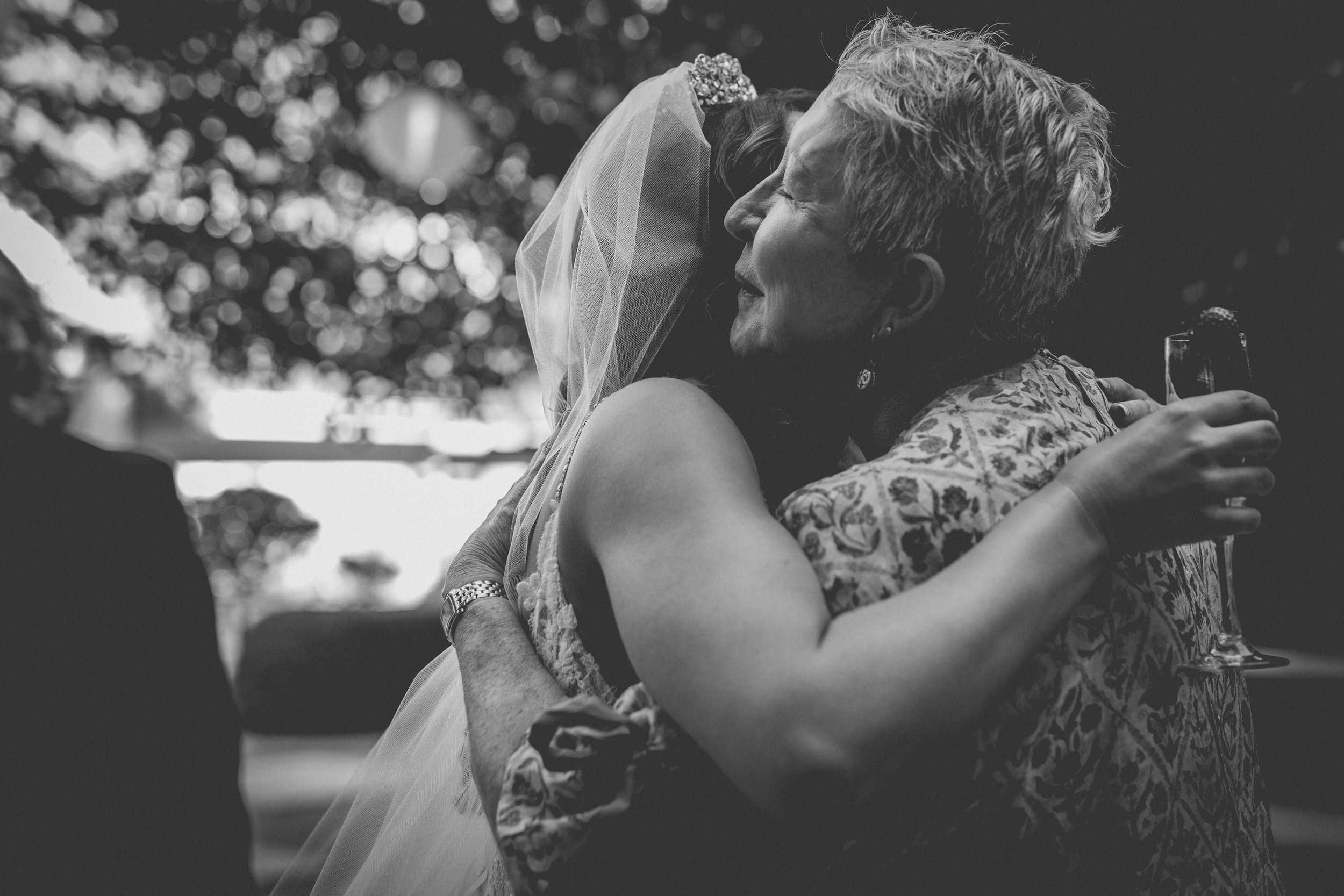 There is nothing quite like a meaningful hug on your wedding day.