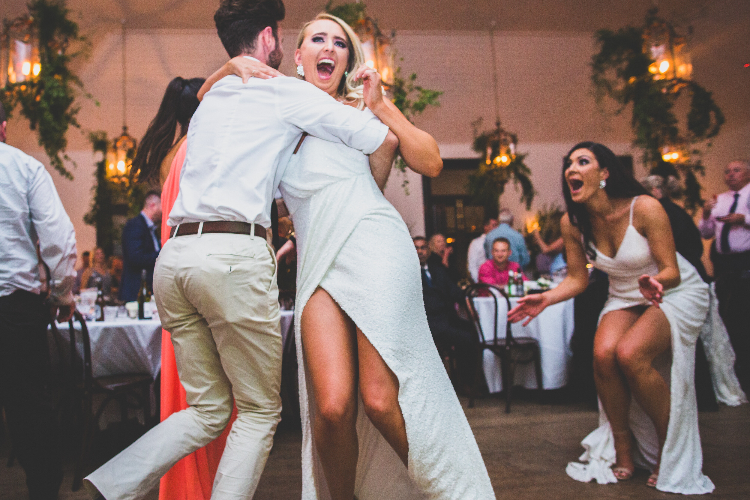 Fun on the dance floor at a South Coast NSW Wedding