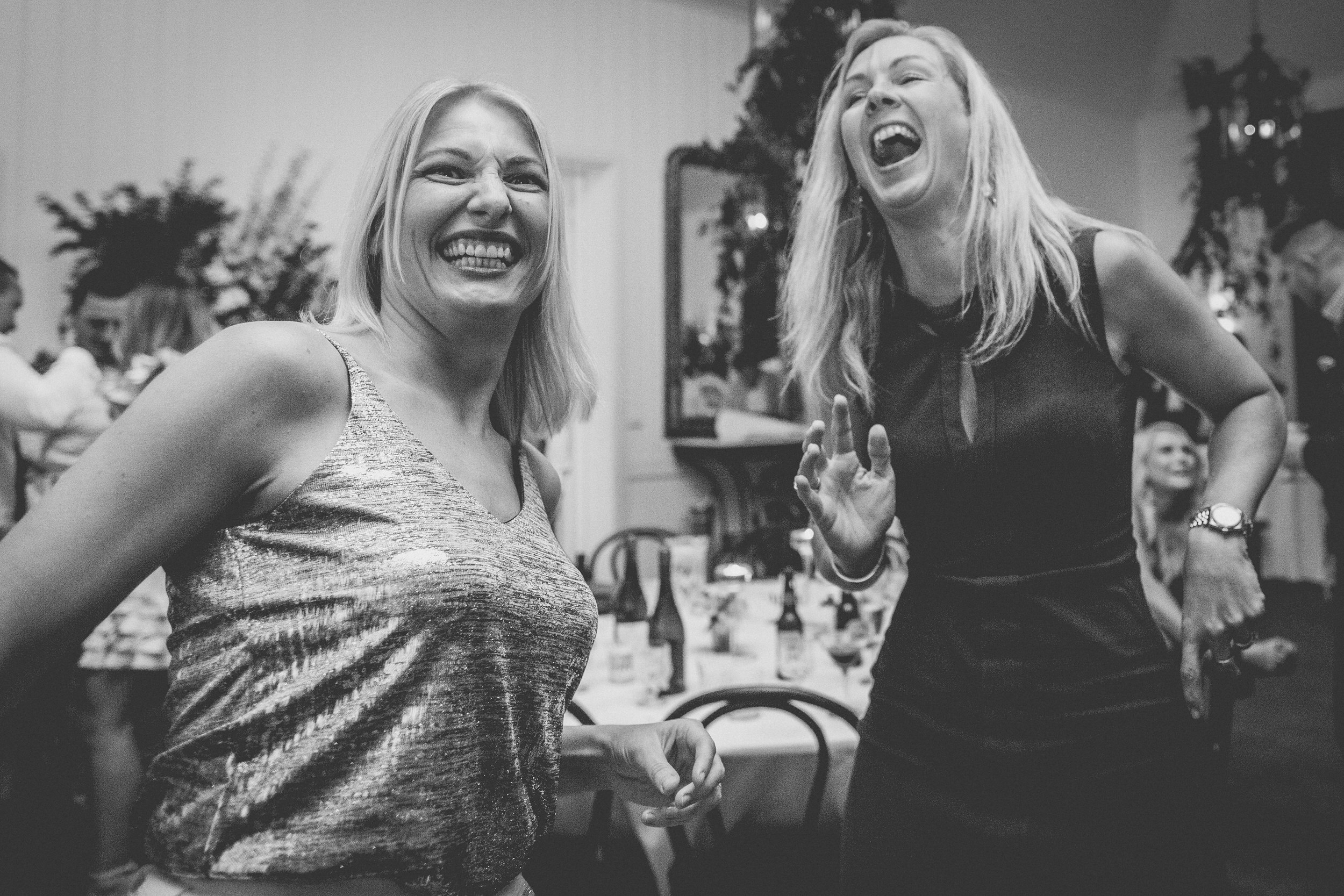 guest laughter on the dance floor in Berry NSW