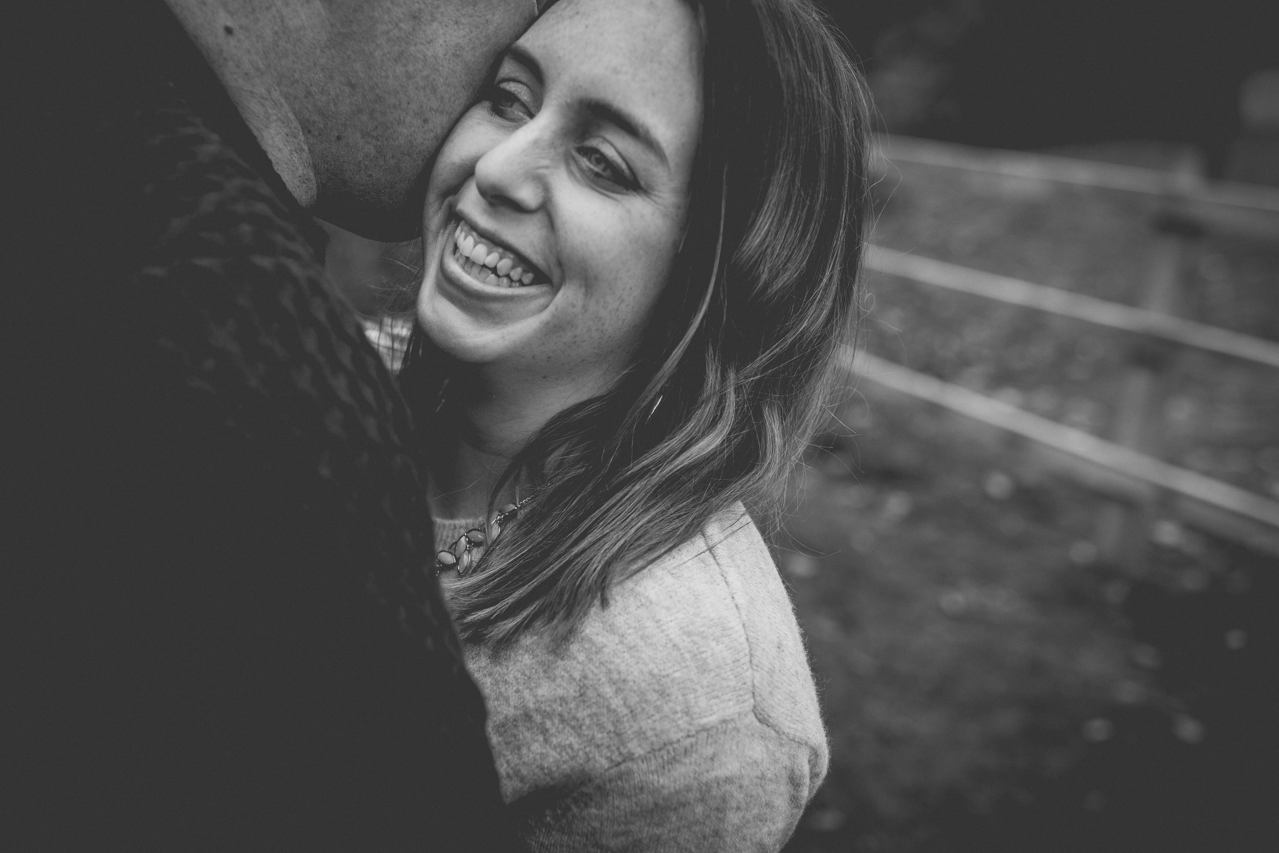 love and happiness during a Sydney engagement shoot