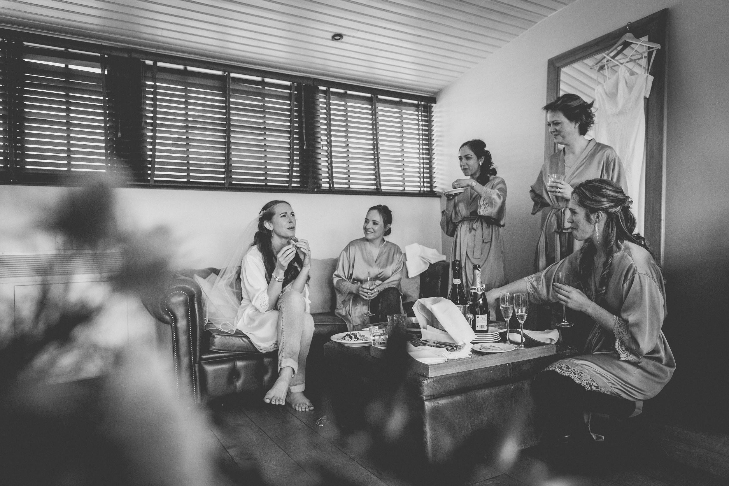 chats during bridal prep