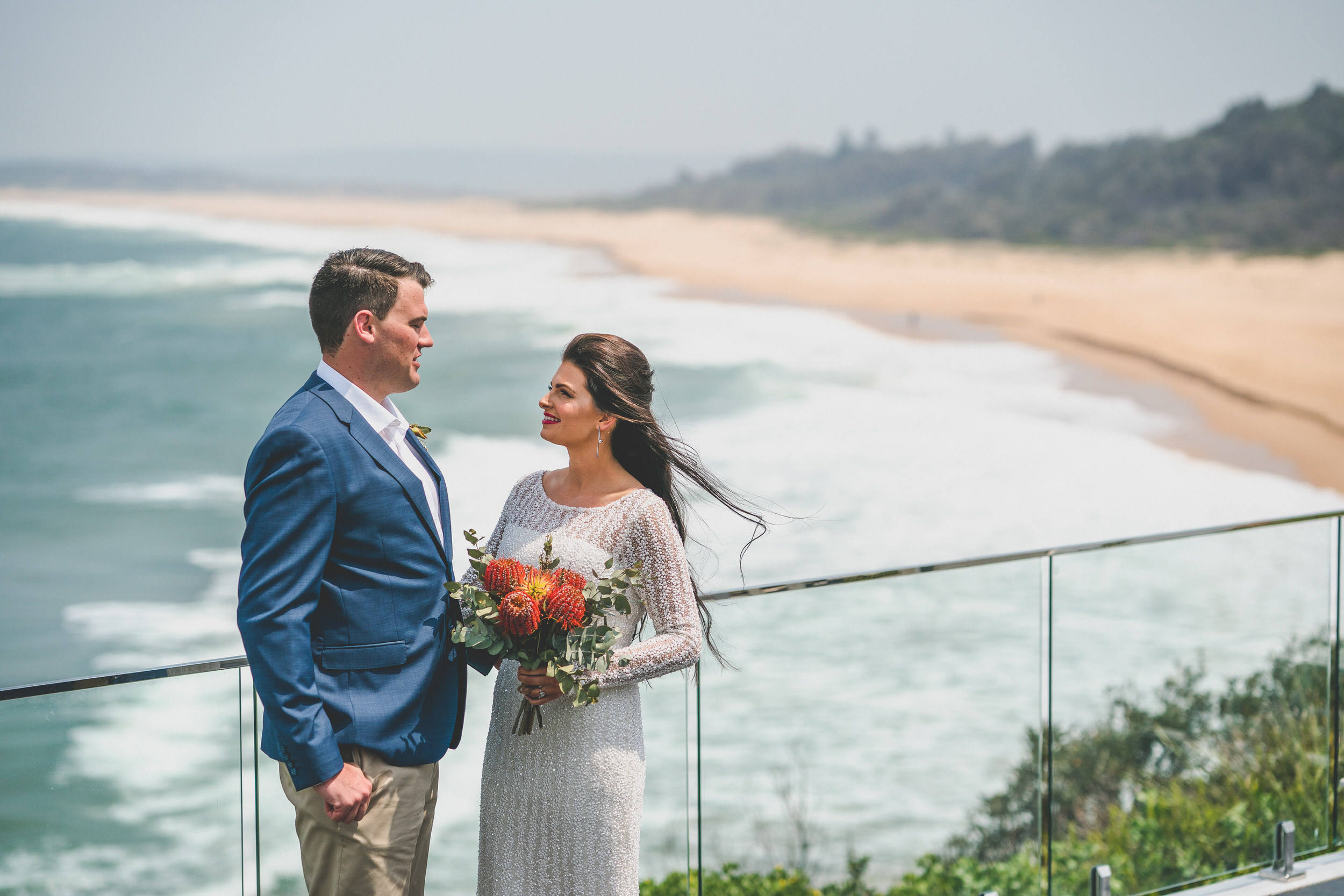 Culburra wedding overlooking the beach