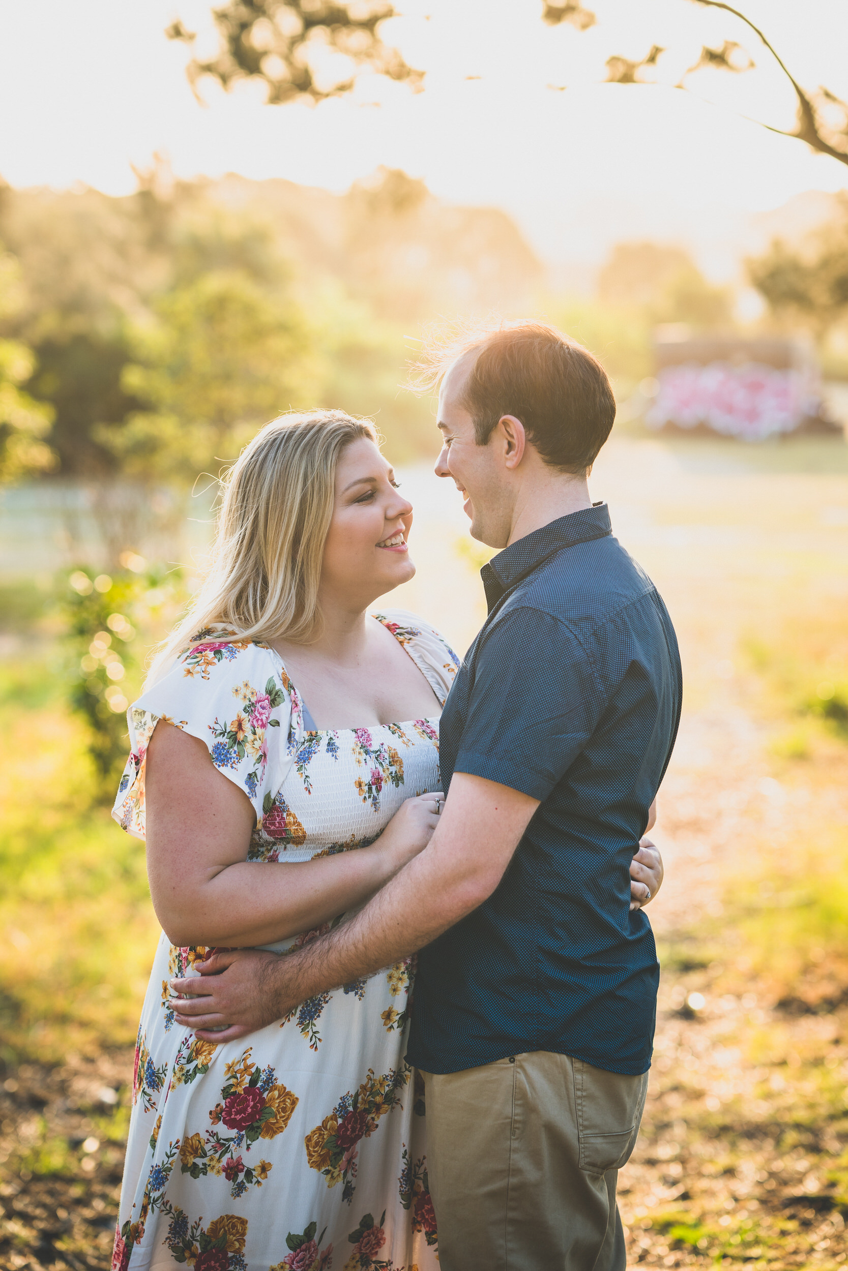centennial park engagement park session