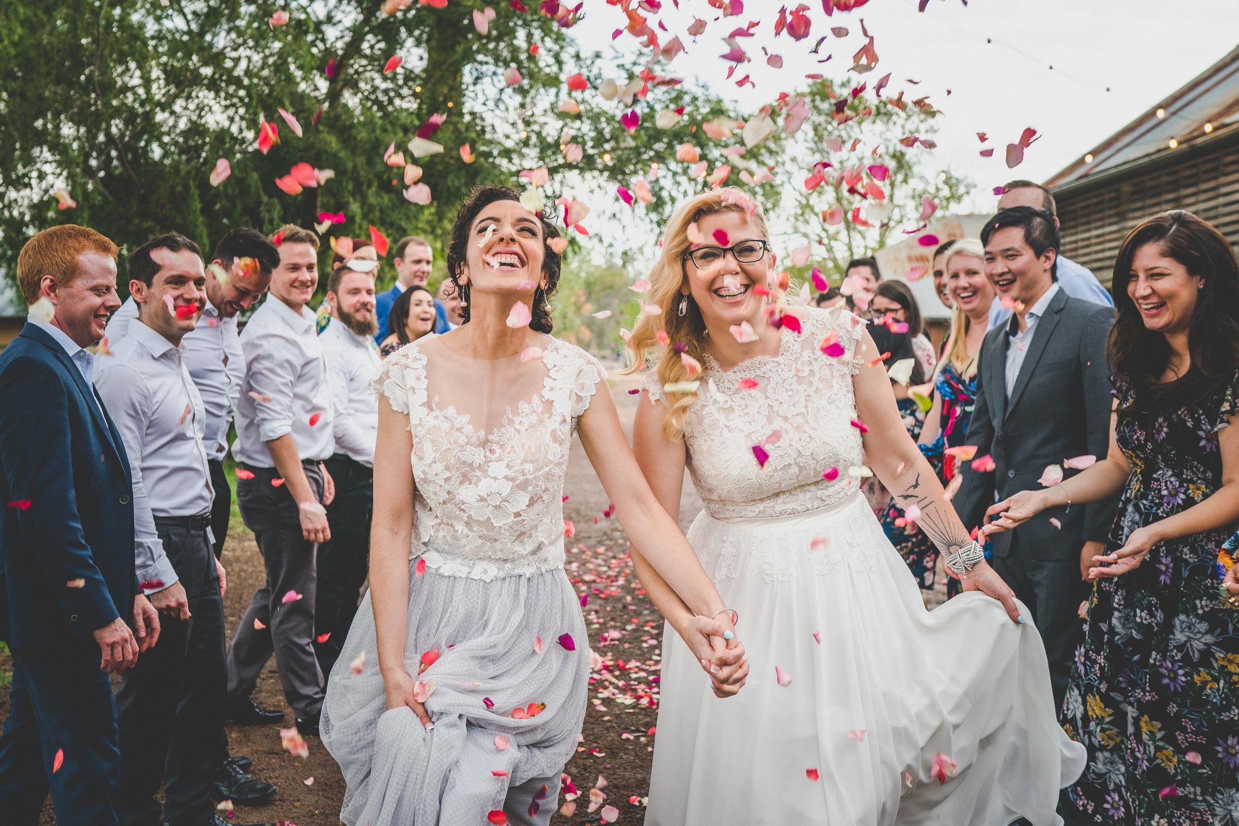 same-sex wedding confetti